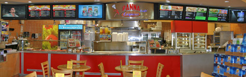 Panoramic of Panna Cafe digital signage created by Allgraphic.net